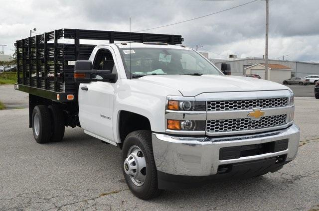 2019 Silverado 3500 Regular Cab DRW 4x4,  Knapheide Value-Master X Stake Bed #C90115 - photo 7