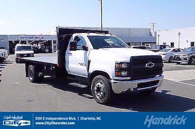 2021 Silverado 5500 Regular Cab DRW 4x2,  PJ's Truck Bodies Platform Body #CM75637 - photo 1