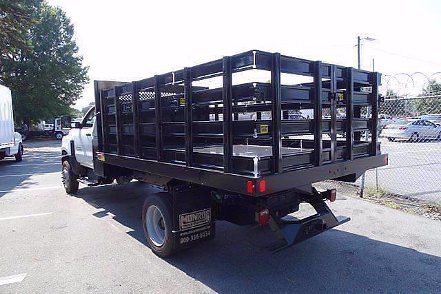 2021 Silverado 4500 Regular Cab DRW 4x4,  Monroe Truck Equipment Work-A-Hauler II Stake Bed #CM99143 - photo 2