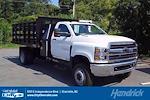 2021 Silverado 4500 Regular Cab DRW 4x4,  Monroe Truck Equipment Work-A-Hauler II Stake Bed #CM99143 - photo 1