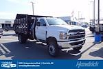 2021 Silverado 4500 Regular Cab DRW 4x4,  Monroe Truck Equipment Work-A-Hauler II Stake Bed #CM99144 - photo 1