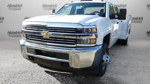 2017 Silverado 3500 Crew Cab DRW, Reading Classic II Steel Service Body #M217983 - photo 32