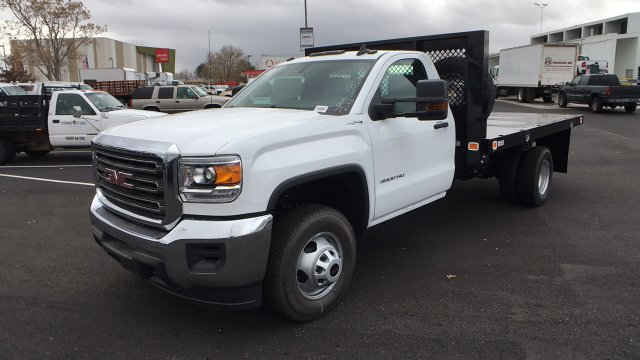 2017 Sierra 3500 Regular Cab DRW 4x4, Knapheide Value-Master X Platform Body #HF239529 - photo 1