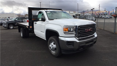 2017 Sierra 3500 Regular Cab DRW 4x4, Knapheide Value-Master X Platform Body #HF239529 - photo 3