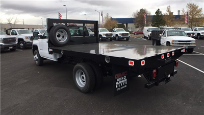 2017 Sierra 3500 Regular Cab DRW 4x4, Knapheide Value-Master X Platform Body #HF239529 - photo 2