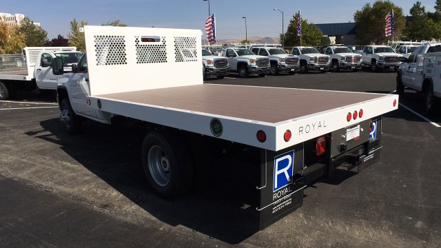 2017 Sierra 3500 Regular Cab DRW, Royal Flatbed Bodies Platform Body #HF244314 - photo 2