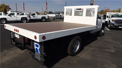 2017 Sierra 3500 Regular Cab DRW, Royal Flatbed Bodies Platform Body #HF244314 - photo 5