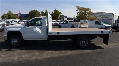 2017 Sierra 3500 Regular Cab DRW, Royal Flatbed Bodies Platform Body #HF244314 - photo 7