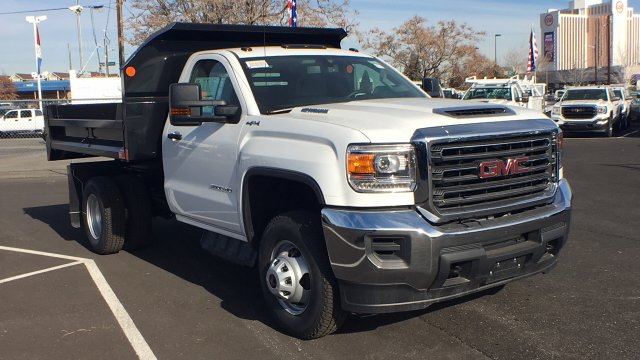 2018 Sierra 3500 Regular Cab DRW 4x4, Monroe Dump Body #JF119150 - photo 3