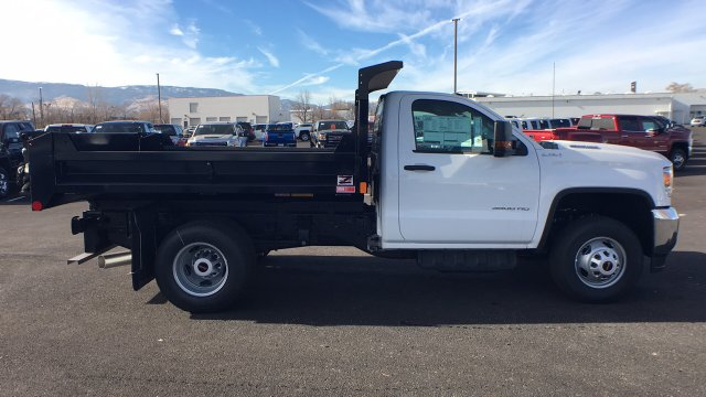 2018 Sierra 3500 Regular Cab DRW 4x4,  Monroe Dump Body #JF119150 - photo 4