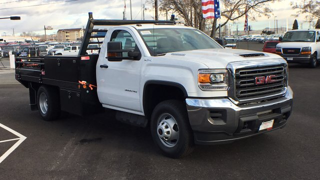 2018 Sierra 3500 Regular Cab DRW 4x4,  Freedom Contractor Body #JF120160 - photo 3