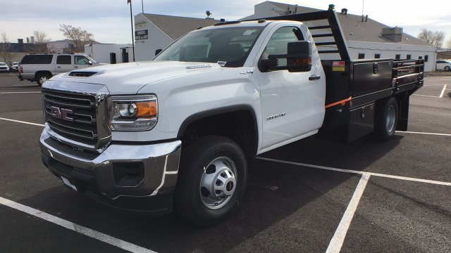 2018 Sierra 3500 Regular Cab DRW 4x4, Freedom ProContractor Contractor Body #JF124648 - photo 1
