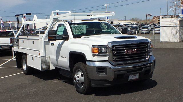 2018 Sierra 3500 Regular Cab DRW 4x4, Contractor Body #JF140427 - photo 3