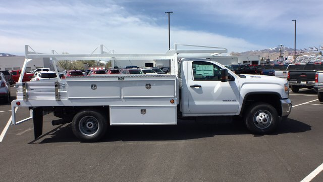 2018 Sierra 3500 Regular Cab DRW 4x4, Contractor Body #JF140427 - photo 4