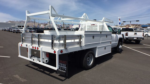 2018 Sierra 3500 Regular Cab DRW 4x4,  Scelzi Contractor Body #JF140427 - photo 5