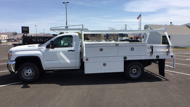 2018 Sierra 3500 Regular Cab DRW 4x4,  Scelzi Contractor Body #JF140427 - photo 7