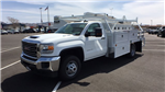 2018 Sierra 3500 Regular Cab DRW 4x4,  Scelzi Contractor Body #JF140427 - photo 1
