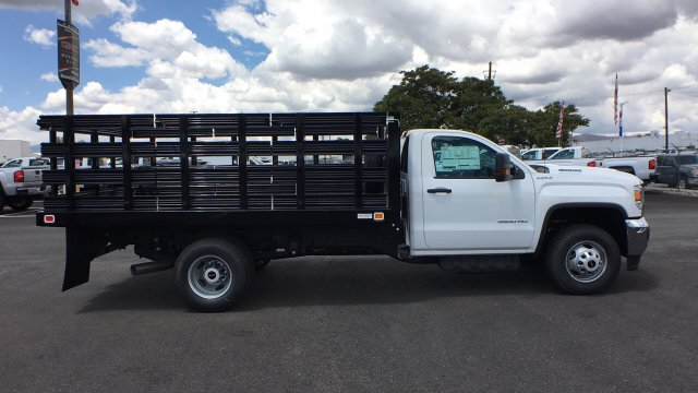 2018 Sierra 3500 Regular Cab DRW 4x4,  Knapheide Stake Bed #JF141146 - photo 4