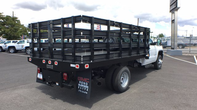 2018 Sierra 3500 Regular Cab DRW 4x4,  Knapheide Stake Bed #JF141146 - photo 5