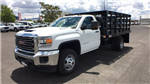 2018 Sierra 3500 Regular Cab DRW 4x4,  Knapheide Stake Bed #JF141146 - photo 1