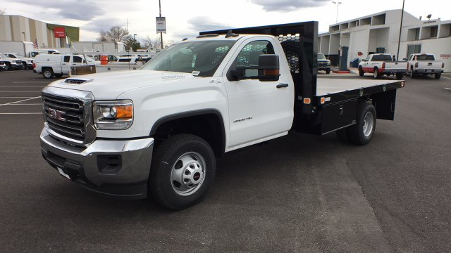 2018 Sierra 3500 Regular Cab DRW 4x4,  Knapheide Value-Master X Platform Body #JF144160 - photo 1