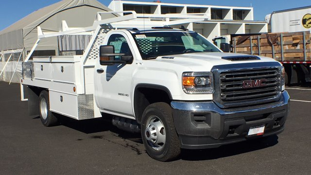 2018 Sierra 3500 Regular Cab DRW 4x4, Contractor Body #JF144452 - photo 3