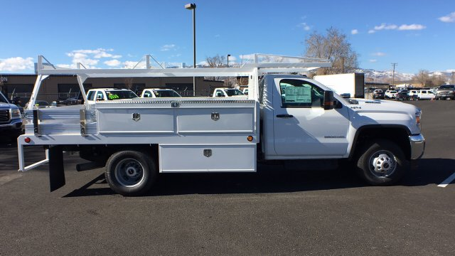 2018 Sierra 3500 Regular Cab DRW 4x4,  Scelzi Contractor Body #JF144452 - photo 4