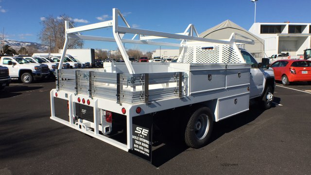 2018 Sierra 3500 Regular Cab DRW 4x4,  Scelzi CTFB Contractor Body #JF144452 - photo 5