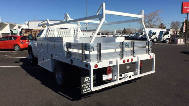 2018 Sierra 3500 Regular Cab DRW 4x4,  Scelzi Contractor Body #JF144452 - photo 2