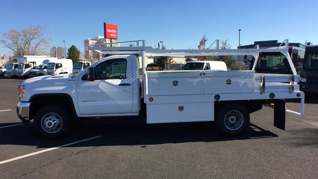 2018 Sierra 3500 Regular Cab DRW 4x4, Contractor Body #JF144452 - photo 7