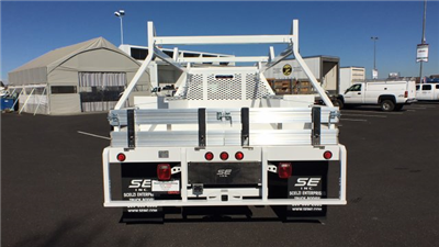2018 Sierra 3500 Regular Cab DRW 4x4,  Scelzi CTFB Contractor Body #JF144452 - photo 6