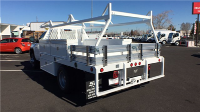 2018 Sierra 3500 Regular Cab DRW 4x4,  Scelzi CTFB Contractor Body #JF144452 - photo 2
