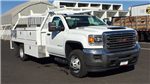 2018 Sierra 3500 Regular Cab DRW 4x4,  Scelzi CTFB Contractor Body #JF144452 - photo 3