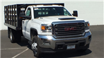 2018 Sierra 3500 Regular Cab DRW 4x4,  Monroe Work-A-Hauler II Stake Bed #JF267621 - photo 3