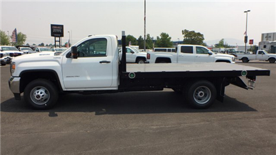 2018 Sierra 3500 Regular Cab DRW 4x4,  Monroe Work-A-Hauler II Platform Body #JF268926 - photo 22