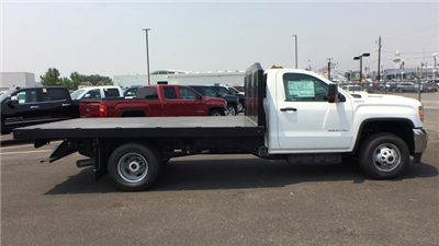 2018 Sierra 3500 Regular Cab DRW 4x4,  Monroe Work-A-Hauler II Platform Body #JF268926 - photo 7