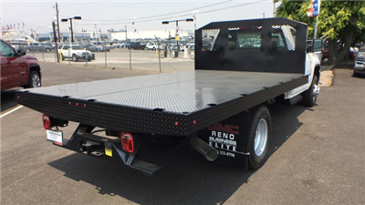 2018 Sierra 3500 Regular Cab DRW 4x4,  Monroe Work-A-Hauler II Platform Body #JF268926 - photo 2