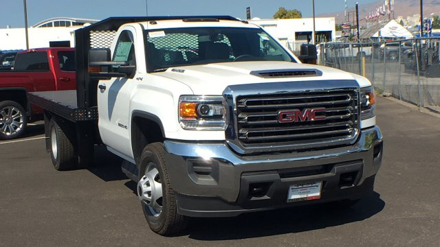 2018 Sierra 3500 Regular Cab DRW 4x4,  Monroe Platform Body #JF270067 - photo 3