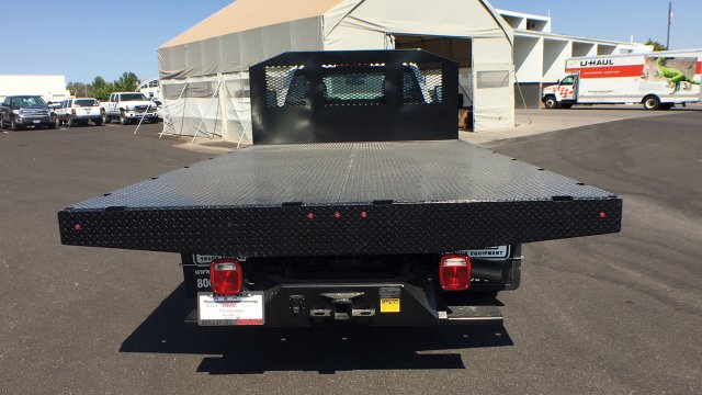 2018 Sierra 3500 Regular Cab DRW 4x4,  Monroe Platform Body #JF270067 - photo 6