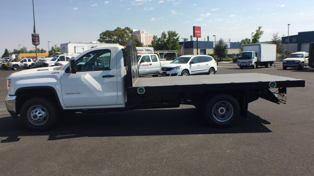 2018 Sierra 3500 Regular Cab DRW 4x4,  Monroe Platform Body #JF270067 - photo 7