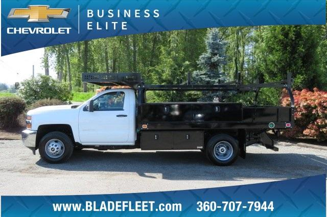 2018 Silverado 3500 Regular Cab DRW 4x2,  Knapheide Contractor Body #10652 - photo 6