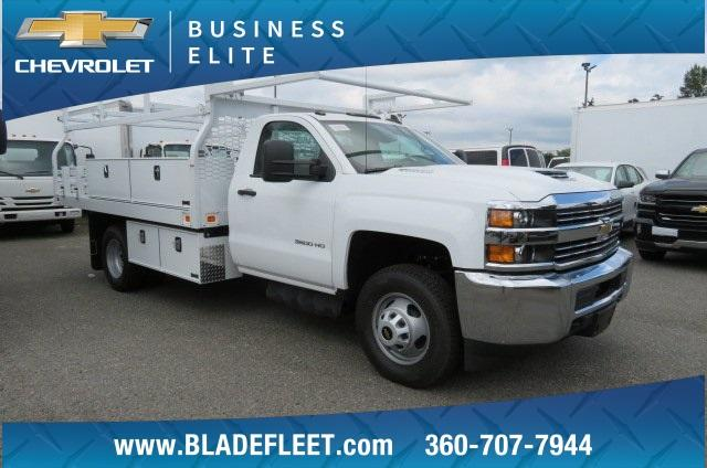 2018 Silverado 3500 Regular Cab DRW 4x2,  Knapheide Contractor Bodies Contractor Body #10653 - photo 1