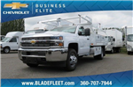2018 Silverado 3500 Regular Cab DRW 4x2,  Knapheide Contractor Bodies Contractor Body #10653 - photo 3