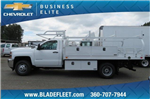 2018 Silverado 3500 Regular Cab DRW 4x2,  Knapheide Contractor Bodies Contractor Body #10653 - photo 8