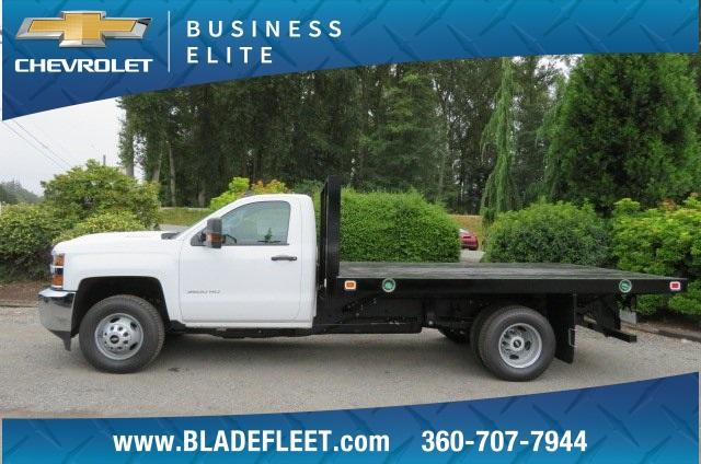 2018 Silverado 3500 Regular Cab DRW 4x4,  Knapheide Value-Master X Platform Body #10655 - photo 3