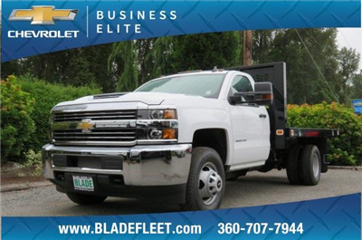 2018 Silverado 3500 Regular Cab DRW 4x4,  Knapheide Value-Master X Platform Body #10655 - photo 1