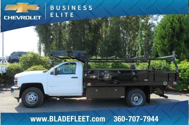 2018 Silverado 3500 Regular Cab DRW 4x4,  Knapheide Contractor Body #10656 - photo 3