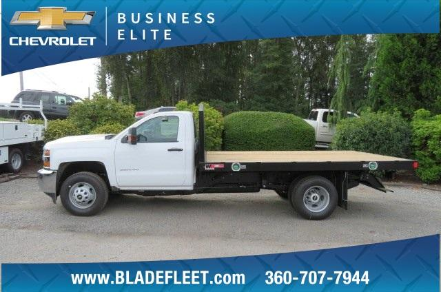 2018 Silverado 3500 Regular Cab DRW 4x2,  Monroe Work-A-Hauler II Platform Body #10860 - photo 3