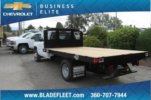2018 Silverado 3500 Regular Cab DRW 4x2,  Monroe Work-A-Hauler II Platform Body #10860 - photo 2