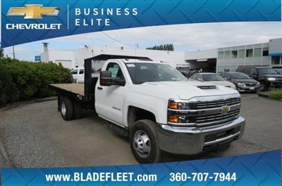 2018 Silverado 3500 Regular Cab DRW 4x2,  Monroe Work-A-Hauler II Platform Body #10860 - photo 11